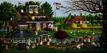 "Charles Wysocki Limited Edition Print: ""Love"""