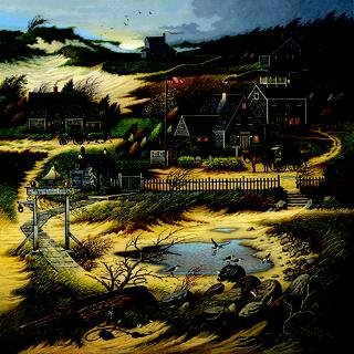 "Charles Wysocki Limited Edition Print: ""Old Nantucket"""