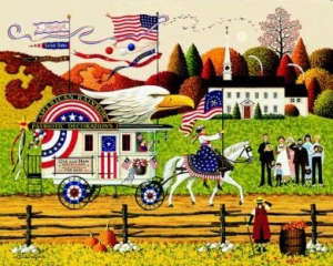 """Charles Wysocki Limited Edition Print: """"So Proudly We Hail"""""""