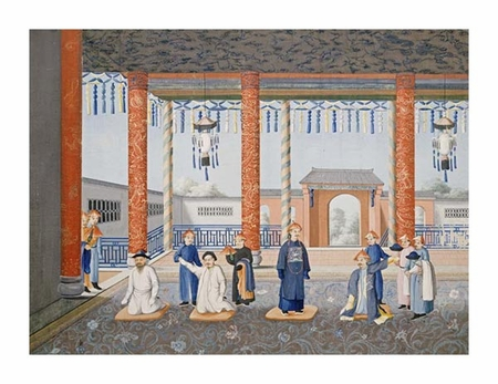 "Chinese School Fine Art Open Edition Giclée:""Scenes from Imperial Court Life. 19th Century"""