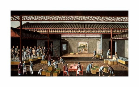 "Chinese School Fine Art Open Edition Giclée:""Various Stages in the Manufacture and Selling of Tea"""