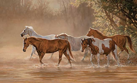 """Chris Cummings Handsigned and Numbered Limited Edition Print:""""Misty River"""""""