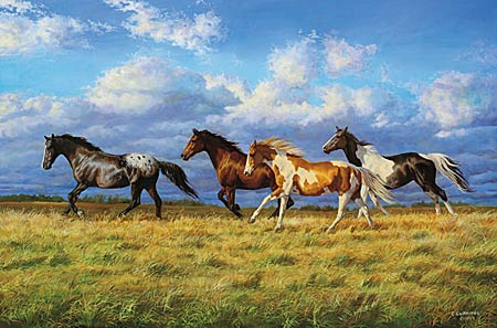 """Chris Cummings Handsigned & Numbered Limited Edition Print:""""Running Free """""""