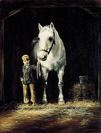 """Chris Cummings Limited Edition Print:""""Stable Boy"""""""