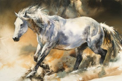 "Chris Owen Artist Hand-Signed and Numbered Limited Edition Giclee Print and Canvas: ""Indomitable"""