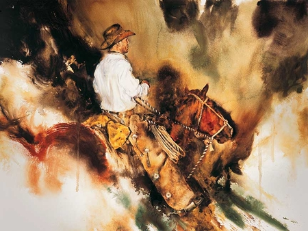 "Chris Owen Hand Signed and Numbered Limited Edition Giclee:""Working the Coulee"""