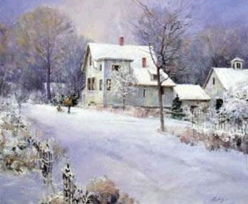 """Chuck Mardosz Handsigned and Numbered Limited Edition Lithograph on Paper: """"Winter Memories"""""""