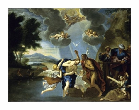 "Circle of Francesco Albani Fine Art Open Edition Giclée:""The Baptism of Christ"""