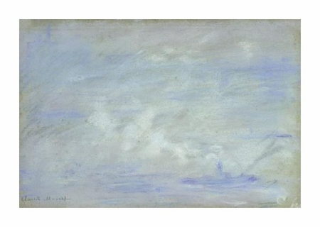 "Claude Monet Fine Art Open Edition Giclée:""Boat on the Thames, Impression of Mist"""