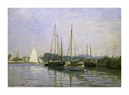 "Claude Monet Fine Art Open Edition Giclée:""Boats: Regatta at Argenteuil c. 1872-73"""