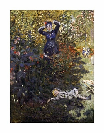 "Claude Monet Fine Art Open Edition Giclée:""Camille and Jean in the Garden at Argenteuil"""