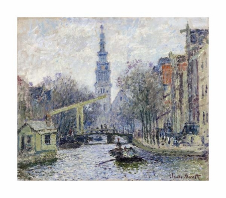 "Claude Monet Fine Art Open Edition Giclée:""Canal, Amsterdam"""