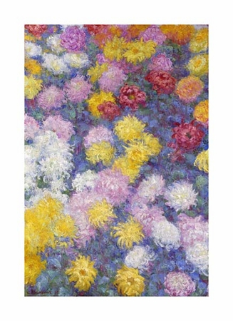 "Claude Monet Fine Art Open Edition Giclée:""Chrysanthemums"""