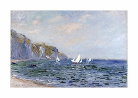 "Claude Monet Fine Art Open Edition Giclée:""Cliffs and Sailboats at Pourville"""