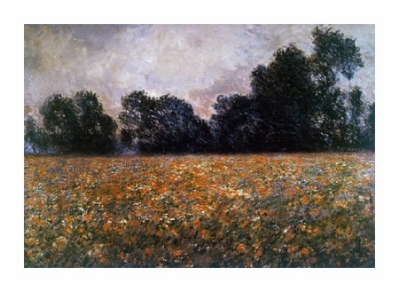 "Claude Monet Fine Art Open Edition Giclée:""Field of Wild Poppies"""