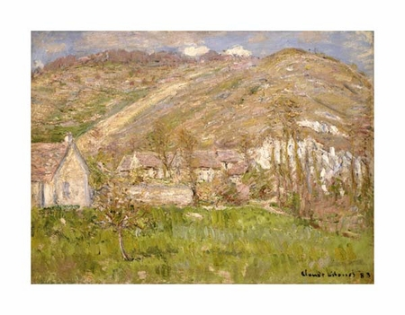 "Claude Monet Fine Art Open Edition Giclée:""Hamlet on a Cliff Near Giverny"""