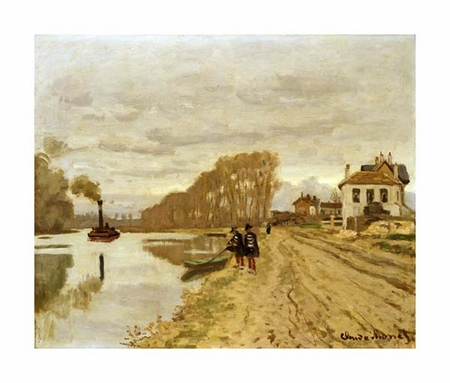 "Claude Monet Fine Art Open Edition Giclée:""Infantrymen of the Flanant Guard on the Water"""