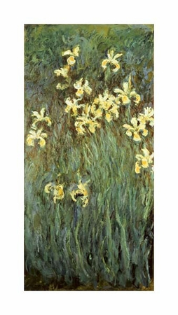 "Claude Monet Fine Art Open Edition Giclée:""Iris Jaune"""