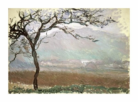 "Claude Monet Fine Art Open Edition Giclée:""Landscape of Giverny (Paysage a Giverny), 1887"""