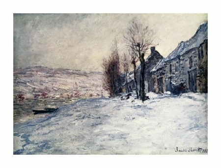 "Claude Monet Fine Art Open Edition Giclée:""Lavacourt Under Snow"""