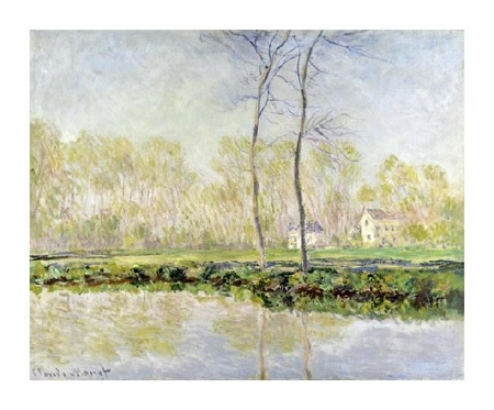 "Claude Monet Fine Art Open Edition Giclée:""Les Bords de L'Epte a Giverny"""