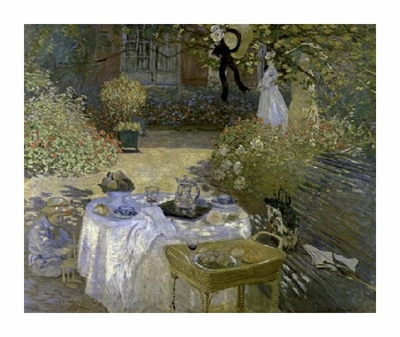 "Claude Monet Fine Art Open Edition Giclée:""Lunch"""