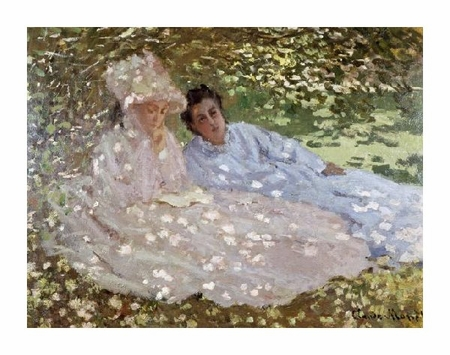 "Claude Monet Fine Art Open Edition Giclée:""Madame Monet in the Garden"""