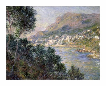 "Claude Monet Fine Art Open Edition Giclée:""Monte Carlo, View of Cape Martin"""