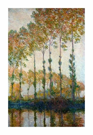 "Claude Monet Fine Art Open Edition Giclée:""Poplar on the Epte"""