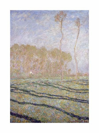 """Claude Monet Fine Art Open Edition Giclée:""""Spring Countryside at Giverny"""""""