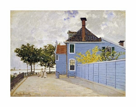 "Claude Monet Fine Art Open Edition Giclée:""The Blue House, Zaandam"""