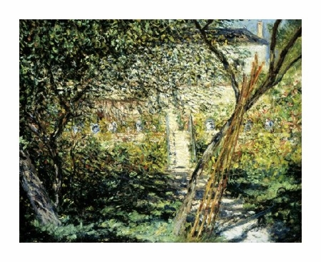 "Claude Monet Fine Art Open Edition Giclée:""The Garden of Vetheuil (Le Jardin de Vetheuil)"""