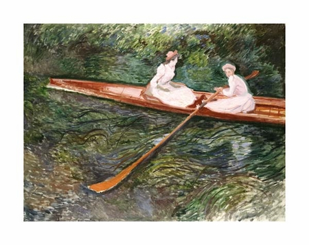 "Claude Monet Fine Art Open Edition Giclée:""The Pink Rowing Boat"""