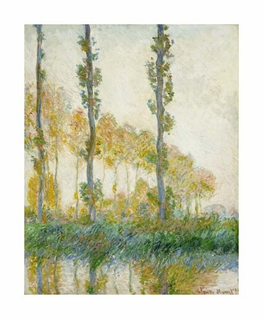 "Claude Monet Fine Art Open Edition Giclée:""The Three Trees, Autumn"""