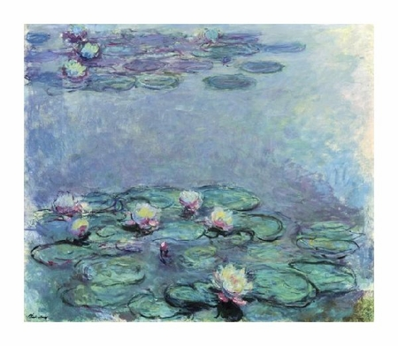 "Claude Monet Fine Art Open Edition Giclée:""Water Lilies (Nympheas) 1914-1917"""