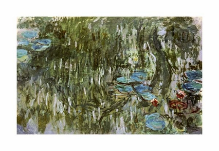 "Claude Monet Fine Art Open Edition Giclée:""Water Lilies, Reflected Willow"""