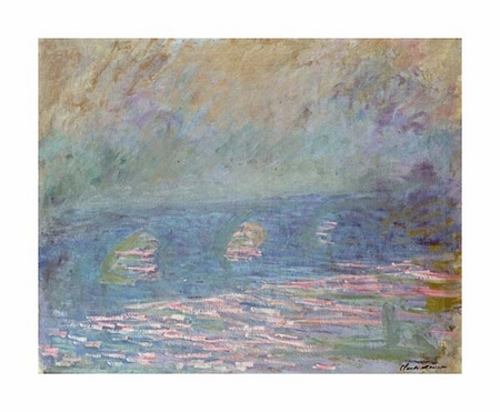 "Claude Monet Fine Art Open Edition Giclée:""Waterloo Bridge"""