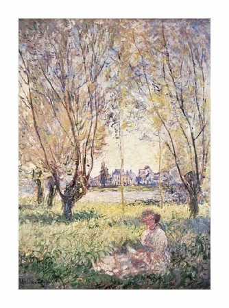 """Claude Monet Fine Art Open Edition Giclée:""""Woman Seated Under the Willows"""""""