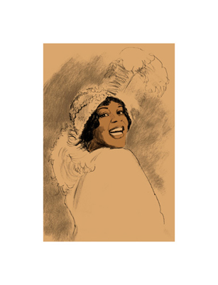 """Clifford Faust Limited Edition Pencil Signed Artist's Proof Giclee:""""Bessie Smith"""""""