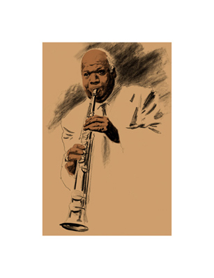 "Clifford Faust Limited Edition Pencil Signed Artist's Proof Giclee:""Sidney Bechet"""