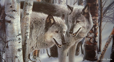 "Collin Bogle Handsigned and Numbered Limited Edition :""Winter Companions"""