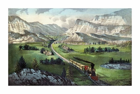 """Currier and Ives Fine Art Open Edition Giclée:""""The Great West"""""""