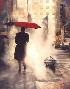 "Daniel Del Orfano Limited Edition Hand Embellished Giclee on Canvas:""Walking Home "" - Click to enlarge"