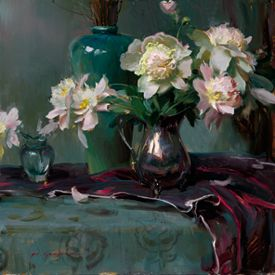 "Daniel F. Gerhartz Limited Edition Iris Graphic: "" Still Life with Silver """