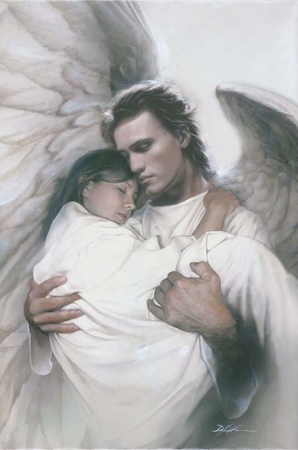 "Danny Hahlbohm Handsigned and Numbered Limited Edition Print: ""In the Arms of an Angel"""