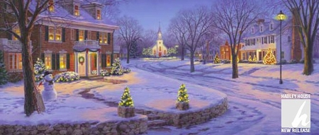 """Darrell Bush Handsigned Open Edition Print:""""Home for the Holidays"""""""