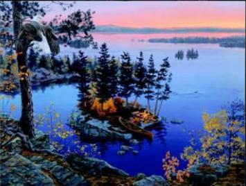 "Darrell Bush Limited Edition Print: ""Autumns's Call"""