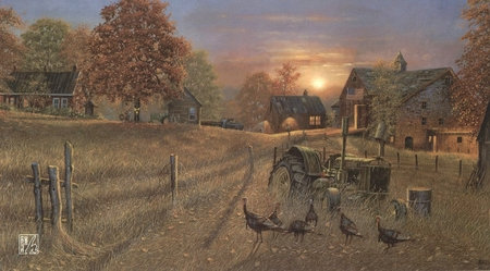 "Dave Barnhouse Handsigned & Numbered Limited Edition Print:""Coming Home"""