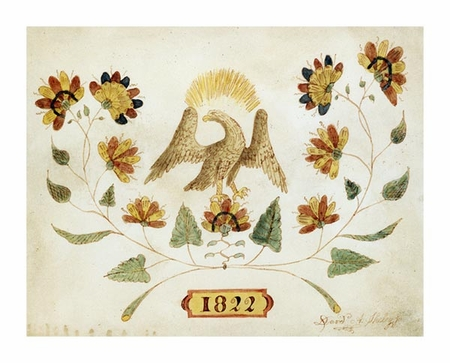 "David a Sheley Fine Art Open Edition Giclée:""A Watercolor and Ink Drawing of a Spread Eagle"""