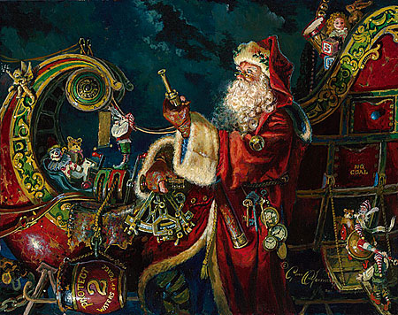 "Dean Morrissey Handsigned and Numbered Limited Edition Print:""Preparing for the Journey (Father Xmas ll)"""